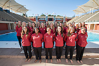 Stanford Water Polo W Portraits and Team Photo, October 5, 2016