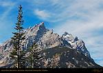 Grand Teton and Mount Owen, detail from Jenny Lake, Grand Teton National Park, Wyoming