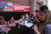SAN ANTONIO, TX - APRIL 4:  Lindy La Rocque at an autograph session on April 4, 2010 at the Alamo Dome in San Antonio, Texas.