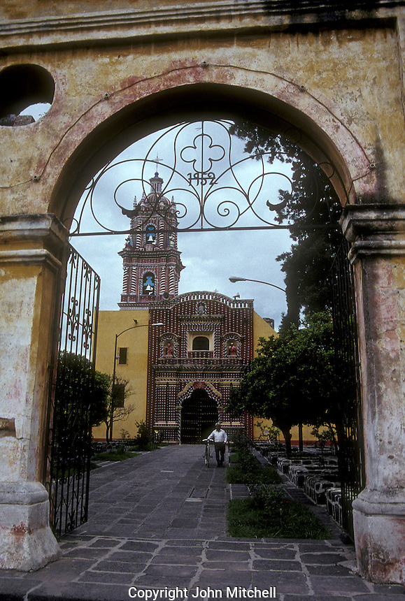 The Templo de Santa Maria church in the village of Tonantzintla, Puebla state, Mexico