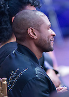 American singer, songwriter, dancer, and actor Usher (Usher Raymond IV) listens as United States President Barack Obama delivers remarks at BET&rsquo;s &ldquo;Love and Happiness: A Musical Experience&rdquo; on the South Lawn of the White House in Washington, DC on Friday, October 21, 2016.<br /> Credit: Ron Sachs / Pool via CNP /MediaPunch