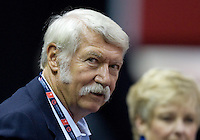 Former Olympics gymnastics head coach Bela Karolyi is pictured during the 2012 US Olympic Trials competition at HP Pavilion in San Jose, California on June 29th, 2012.