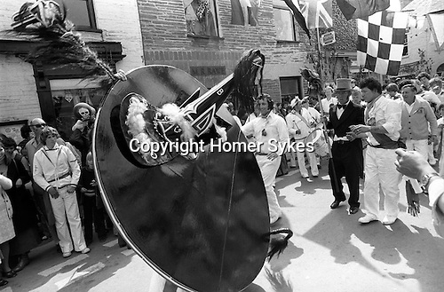 Padstow Hobby Horse, Padstow Cornwall, England 1975. May 1st.<br />