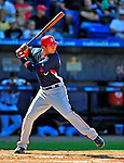 7 March 2009: Washington Nationals' infielder Chris Marrero in action during a Spring Training game against the New York Mets at Tradition Field in Port St. Lucie, Florida. The Nationals defeated the Mets 7-5 in the Grapefruit League matchup. Mandatory Photo Credit: Ed Wolfstein Photo