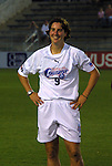 18 June 2003: Carolina Courage forward Birgit Prinz of Germany. The WUSA All-Star Skills Competition was held at SAS Stadium in Cary, NC.