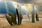 """Les Braves"" Second World War D-Day landing Memorial on Omaha Beach, Normandy France"