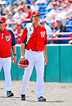 10 March 2012: Washington Nationals' starting pitcher Chien-Ming Wang walks to the dugout prior to a Spring Training game against the New York Mets at Space Coast Stadium in Viera, Florida. The Nationals defeated the Mets 8-2 in Grapefruit League play. Mandatory Credit: Ed Wolfstein Photo