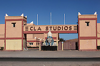 Entrance to CLA Studios, film studios offering Moroccan and other Islamic locations, Ouarzazate, Southern Morocco. Picture by Manuel Cohen