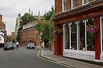 Eton High Street, Eton near nr Windsor Berkshire, England 2006. Looking towards Eton college school chapel.