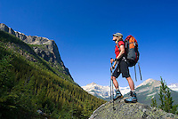The Highline trail, Alberta and British Columbia, Canada, August 2008. The first climb to Arnica lake. The Banff Highline trail can be hiked in 7 days and runs through Banff National park as well as Assiniboine Provincial park. Photo by Frits Meyst/Adventure4ever.com