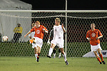 1 November 2006: Clemson's Alan O'Hara (5) and Virginia's Yannick Reyering (11). Virginia defeated Clemson 2-0 at the Maryland Soccerplex in Germantown, Maryland in an Atlantic Coast Conference college soccer tournament quarterfinal game.