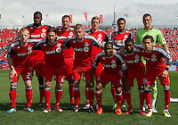17 September 2011:The starting eleven for the Toronto FC during a game between the Colorado Rapids and Toronto FC at BMO Field in Toronto.