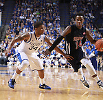 UK guard Julius Mays defends the ball during the second half of the men's basketball game vs. Samford at Rupp Arena in Lexington, Ky., on Tuesday, December 4, 2012. Photo by Emily Wuetcher | Staff..
