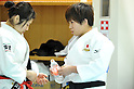 Misato Nakamura, Yuka Nishida, MARCH 28, 2012 - Judo : Japanese women's national team open the practice for press at Ajinomoto National Trining center in Itabashi, Japan. (Photo by Atsushi Tomura /AFLO SPORT) [1035]