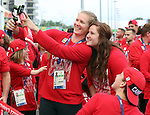 Rio de Janeiro-5/9/2016- flag raising ceremony in the athletes village at the Paralympic Games in Rio. Photo Scott Grant/Canadian Paralympic Committee