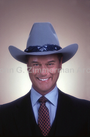 "Larry Hagman as J.R. Ewing on ""Dallas,"" TV series, 1980."