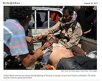 Screengrab of &quot;Battle for Libya&quot; published in The New York Times