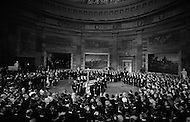30 Mar 1969, Washington, DC, USA --- The funeral of President Dwight Eisenhower on March 30, 1969 in the U.S. Capitol Rotunda. The eulogy was delivered by President Richard Nixon. --- Image by © JP Laffont/Sygma/CORBIS