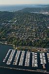 Aerial view of Elliott Bay Marina with Magnolia neighborhood