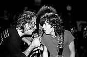 TRUST - Angus Young/AC/DC and Bernie Bonvoisin - performing live at Le Rose Bonbon in Paris France - 05 Dec 1982.  Photo credit : Alex Mitram/Dalle/IconicPix