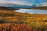 Morning light and clouds over Mt McKinley (Denali) North America