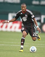 Rodney Wallace #22 of D.C. United during an MLS match against Real Salt Lake at RFK Stadium, on June 5 2010 in Washington DC. The game ended in a 0-0 tie.
