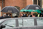 December 11, 2010. Raleigh, NC.. John Edwards arrives at the funeral of his estranged wife Elizabeth.. A funeral was held at the Edenton Street United Methodist Church to honor the life of Elizabeth Edwards, the estranged wife of former Democratic presidential candidate John Edwards, who died after an 6 year battle with breast cancer..