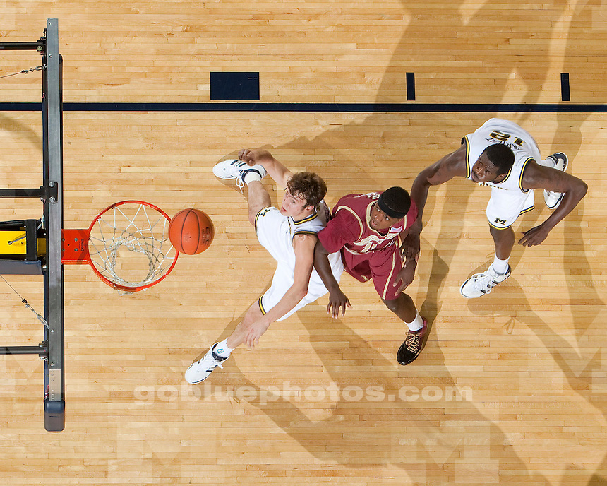 University of Michigan basketball (men) vs Boston College in the Big Ten/ACC Challenge at Crisler Arena on 12/2/09..