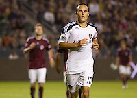 Landon Donovan of the LA Galaxy makes his way to the corner. The Colorado Rapids defeated the LA Galaxy 3-1 at Home Depot Center stadium in Carson, California on Saturday October 16, 2010.