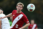 29 November 2015: Indiana's Billy McConnell. The Wake Forest University Demon Deacons hosted the Indiana University Hoosiers at Spry Stadium in Winston-Salem, North Carolina in a 2015 NCAA Division I Men's Soccer Tournament Third Round match. Wake Forest won the game 1-0.
