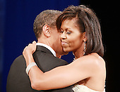 Washington, DC - January 20, 2009 -- United States President Barack Obama dances with his wife Michelle Obama at the Mid-Atlantic Inaugural Ball at the Washington Convention Center on January 20, 2009 in Washington, DC. Obama became the first African-American to be elected to the office of President in the history of the United States. .Credit: Mark Wilson - Pool via CNP