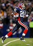 17 November 2008:  Buffalo Bills' cornerback Leodis McKelvin returns a kickoff for 98 yards in the 4th quarter against the Cleveland Browns at Ralph Wilson Stadium in Orchard Park, NY. The Browns defeated the Bills 29-27 in the Monday Night AFC matchup. *** Editorial Sales Only ****..Mandatory Photo Credit: Ed Wolfstein Photo