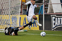 SANTA CLARA, CA -- May 21, 2011: San Jose Earthquakes defeated the New England Revolution 2-1 during their match at Buck Shaw Stadium in Santa Clara on May 21st, 2011.