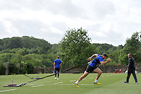 Matt Banahan of Bath Rugby in action. Bath Rugby training session on August 4, 2015 at Farleigh House in Bath, England. Photo by: Patrick Khachfe / Onside Images