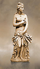 Greek Classical Period Statue of Aphrodite made of Parian marble. Restored by the famous Italian Sculptor A. Canova ( 1757 - 1822 ), Aphrodite is standing nude apart from a richly draped himation which she retains with her left hand in front of her pudenda. 4th c. BC. Athens National Archaeological Museum cat No 3524, from the collection of Lord Hope, donated by M. Embeirikos in 1924.