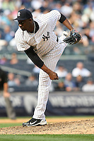 09/19/11 Bronx, NY: New York Yankees relief pitcher Rafael Soriano #29 during an MLB game played at Yankee Stadium between the Minnesota Twins and the New York Yankees. The Yankees defeated the Twins 6-4.