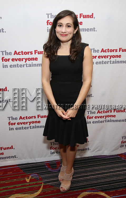 Lucy DeVito attends The Actors Fund Annual Gala at the Marriott Marquis on 5/8//2017 in New York City.