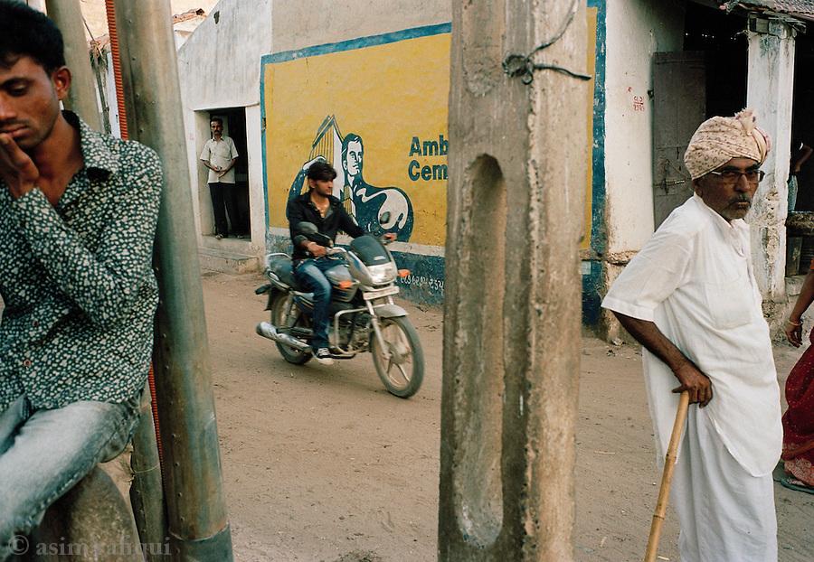 Street scene in a local village in Kuch, Gujarat