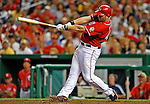 28 August 2010: Washington Nationals first baseman Adam Dunn gets a three run homer in the bottom of the fifth inning to take the lead 8-5 against the St. Louis Cardinals at Nationals Park in Washington, DC. It was Dunn's 32nd home run of the season as the Nationals went on to defeat the Cards 14-5 taking the third game of their 4-game series. Mandatory Credit: Ed Wolfstein Photo