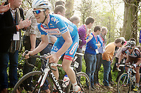 Jempy Drucker (LUX/Wanty-GroupeGobert) up the Taaienberg<br /> <br /> 57th E3 Harelbeke 2014