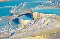 Photo & Image  of Pamukkale Travetine Terrace, Turkey. Images of the white Calcium carbonate rock formations. Buy as stock photos or as photo art prints. 1 Pamukkale travetine terrace water cascades, composed of white Calcium carbonate rock formations, Pamukkale, Anatolia, Turkey