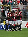 Sandhausen 19.04.2008, Torjubel bei Ingolstadt in der Regionalliga S&uuml;d 2007/08 SV Sandhausen 1916 - FC Ingolstadt 04<br /> <br /> Foto &copy; Rhein-Neckar-Picture *** Foto ist honorarpflichtig! *** Auf Anfrage in h&ouml;herer Qualit&auml;t/Aufl&ouml;sung. Belegexemplar erbeten.