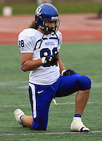 Universite de Montreal Carabins' Nickolas Morin-Soucy in CIS football action against the Rouge et Or at the universite Laval stadium in Quebec City, September 7, 2008. Laval won 17-6 before a crowd of 15,275.