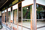 Photo shows first floor reception room of the main building of the Honma Museum of Art from the Kakubuen garden in Sakata, Yamagata Prefecture, Japan, on July 06, 2012. Construction of the garden and reception room was started around 200 years ago. Photographer: Robert Gilhooly