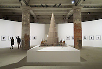 55th Art Biennale in Venice - The Encyclopedic Palace (Il Palazzo Enciclopedico).<br /> Arsenale.<br /> Marino Auriti (U.S.A.), model of the &quot;Enceclopedic Palace&quot;, 1955.