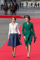 Queen Letizia & King Felipe of Spain on a official visit in Brussels - Belgium