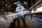 Clyde Bolton sorts finished boards at the Sierra Pacific lumber mill in Chinese Camp, Calif., July 25, 2012..CREDIT: Max Whittaker/Prime for The Wall Street Journal.TIMBER