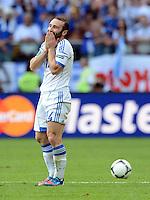 FUSSBALL  EUROPAMEISTERSCHAFT 2012   VORRUNDE Griechenland - Tschechien         12.06.2012 Dimitris Salpingidis (Griechenland)