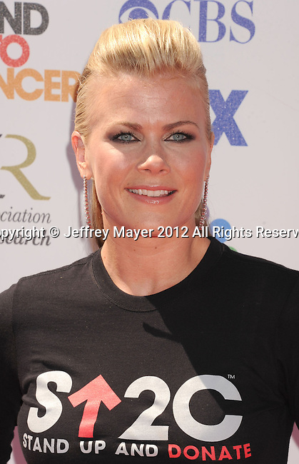 LOS ANGELES, CA - SEPTEMBER 07: Alison Sweeney arrives at Stand Up To Cancer at The Shrine Auditorium on September 7, 2012 in Los Angeles, California.
