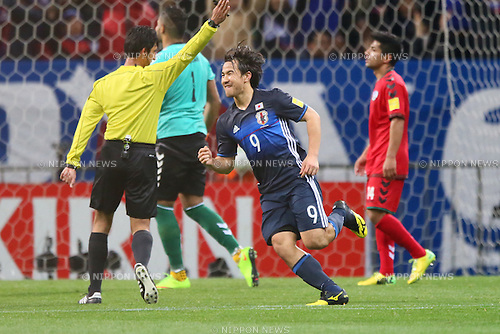 Shinji Okazaki (JPN), <br /> MARCH 24, 2016 - Football / Soccer : <br /> FIFA World Cup Russia 2018 Asian Qualifier <br /> Second Round Group E match <br /> between Japan 5-0 Afghanestan <br /> at Saitama Stadium 2002, Saitama, Japan. <br /> (Photo by YUTAKA/AFLO SPORT)